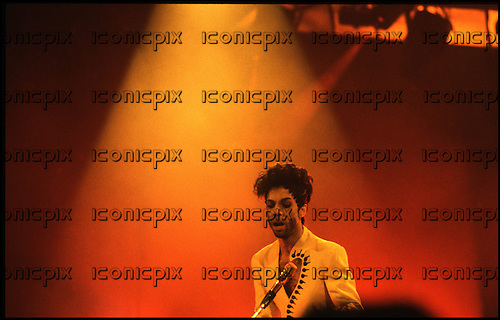 PRINCE - performing live on the Diamonds and Pearls Tour at the Palais Omnisports de Bercy in Paris France - 10 July 1992.  Photo credit: Guy Ferrandis.Dalle/IconicPix **UK ONLY**