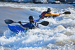 Kayaking at Brennan's Wave on the Clark Fork River in Missoula, Montana