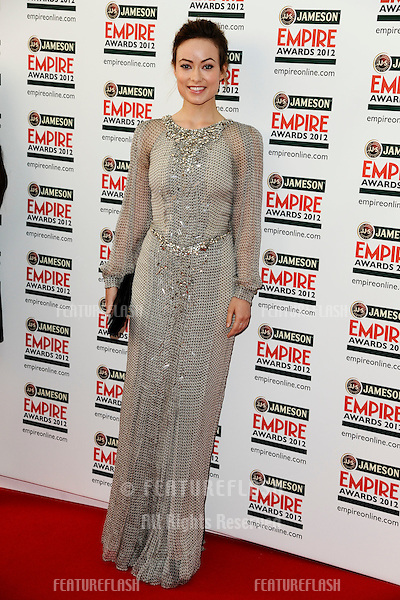 Olivia Wilde arriving for the Empire Film Awards 2012 at the Grosvenor House Hotel, London. 25/03/2012 Picture by: Steve Vas / Featureflash