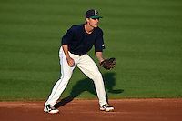 Cedar Rapids Kernels shortstop Ryan Walker (26) during a game against the Quad Cities River Bandits on August 18, 2014 at Perfect Game Field at Veterans Memorial Stadium in Cedar Rapids, Iowa.  Cedar Rapids defeated Quad Cities 4-2.  (Mike Janes/Four Seam Images)