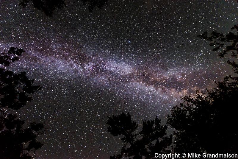 Night sky with Milky Way<br />SIoux Narrows Provincial park<br />Ontario<br />Canada