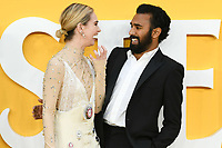 "LONDON, UK. June 18, 2019: Lily James and Himesh Patel arriving for the UK premiere of ""Yesterday"" at the Odeon Luxe, Leicester Square, London.<br /> Picture: Steve Vas/Featureflash"