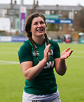 9th February 2020; Energia Park, Dublin, Leinster, Ireland; International Womens Rugby, Six Nations, Ireland versus Wales; Anna Caplice of Ireland applauds the supporters after the full time whistle