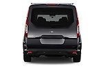 Straight rear view of 2016 Ford Transit Connect Titanium 5 Door Mini Mpv Rear View  stock images
