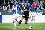 CD Leganes' Diego Rico (l) and Real Madrid's Mariano Diaz during La Liga match. April 5,2017. (ALTERPHOTOS/Acero)