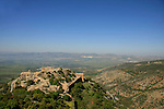 Golan Heights, Nimrod Fortress on the slopes of Mount Hermon, above the Banias spring, overlking the Hula Valley