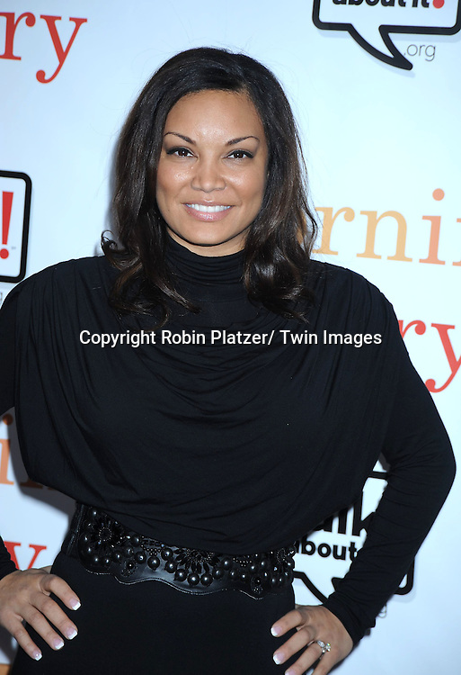 "Egypt Sherrod attending the World Premiere of "" Morning Glory"" starring Harrison Ford, Diane Keaton and Rachel McAdams on November 7, 2010 at The Ziegfeld Theatre in New York City."
