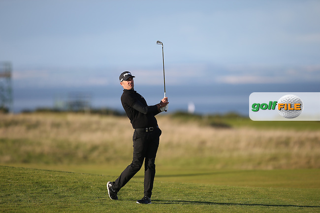 Gregory Havret (FRA) plays second shot to the last during R3 at Kingsbarns of the 2014 Alfred Dunhill Links Championship, The Old Course, St Andrews, Fife, Scotland. Picture:  David Lloyd / www.golffile.ie
