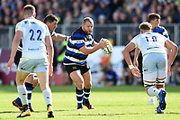 Scott Andrews of Bath Rugby in possession. Aviva Premiership match, between Bath Rugby and Saracens on September 9, 2017 at the Recreation Ground in Bath, England. Photo by: Patrick Khachfe / Onside Images