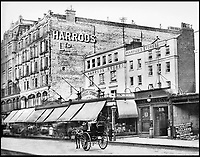 BNPS.co.uk (01202 558833)<br /> Pic: Harrods/BNPS<br /> <br /> The Queens Gardens entrance of Harrods in 1901.<br /> <br /> Harrods was almost shut down in the 1830s long before it became a worldwide name because of its founder's criminal dealings, a new book has revealed.<br /> <br /> In The Jewel of Knightsbridge, The Origins of the Harrods Empire, author Robin Harrod discovered his great great grandfather, Harrods founder Charles Henry Harrod, was on the brink of being deported to Australia for handling stolen goods in 1836.<br /> <br /> He was only saved from his sentence of seven years transportation (deportation) by a petition on his behalf which vowed he would turn his back on crime.<br /> <br /> The Jewel of Knightsbridge: The Origins of The Harrods Empire by Robin Harrod, published by The History Press, costs &pound;20 and will be released on February 13.