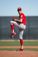 Cincinnati Reds relief pitcher Jimmy Herget (65) during a Minor League Spring Training game against the Chicago White Sox at the Cincinnati Reds Training Complex on March 28, 2018 in Goodyear, Arizona. (Zachary Lucy/Four Seam Images)