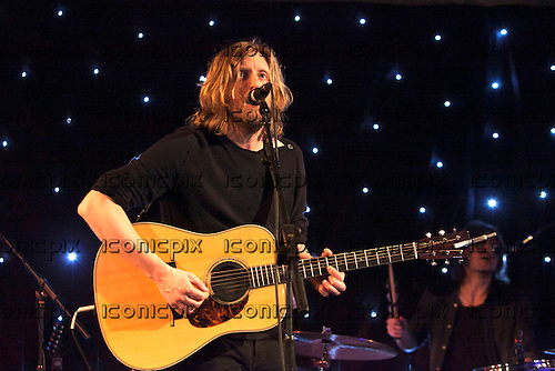 ANDY BURROWS - former Razorlight drummer performing live at the Bush Hall in London UK - 21 Feb 2013.  Photo credit: John Rahim/Music Pics Ltd/IconicPix
