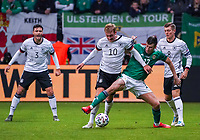 Julian Brandt (Deutschland Germany) gegen Paddy McNair (Nordirland, Northern Ireland) - 19.11.2019: Deutschland vs. Nordirland, Commerzbank Arena Frankfurt, EM-Qualifikation DISCLAIMER: DFB regulations prohibit any use of photographs as image sequences and/or quasi-video.