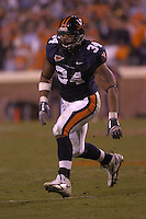 12 November 2005: Virginia LB Ahmad Brooks (34)..The Virginia Cavaliers defeated the Georgia Tech Yellow Jackets 27-17 at Scott Stadium in Charlottesville, VA.