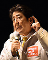 Japan's Prime Minister Shinzo Abe Election Rally Campaign in Urawa Saitama