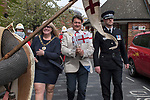 St Georges Day 23rd April 2019, Dartford Kent, parade Councillor David Mote and Lady Mayoress Ellen Mote  and police chief.  2010s