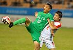 05.09.2017, Stadion, Tianjin, CN. 13. Nationalen Chinesischen Fussballspielen, Zhejiang vs Hubei, im Bild , <br /> <br /> <br /> im Bild Yuning Zhang (Werder Bremen #19) im Halbfinale im gr&uuml;nen Trikot - wie bei seinem Werder Bremen mit der Rueckennummer 10<br /> <br /> Foto &copy; nordphoto / Oscar <br /> ++++ Attention ++++ ALL RIGHTS RESERVED Kein -Facebook -Twitter -Instagram -Social Media Web, keine online Galerie Pauschale,  Honorar und Belegexemplar Star People