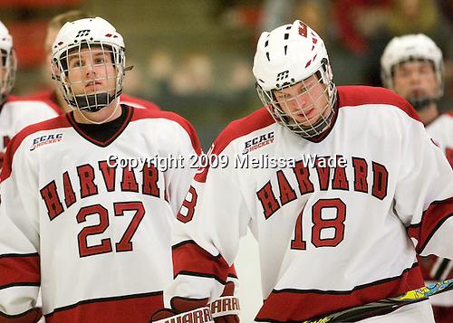 Michael Biega (Harvard - 27), Sam Bozoian (Harvard - 18) -  The Dartmouth College Big Green defeated the Harvard University Crimson 6-2 on Sunday, November 29, 2009, at Bright Hockey Center in Cambridge, Massachusetts.