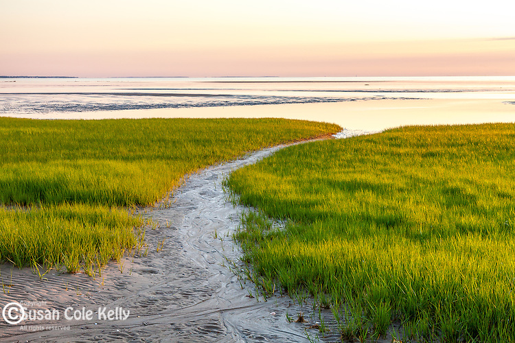 Last light at First Encounter Beach in Eastham, Cape Cod, MA, USA