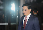 Lee Jay-yong, Jan 19, 2015 : Samsung heir Lee Jay-yong arrives at Hotel Shilla to attend an annual meeting with top Samsung executives in Seoul, South Korea. Jay-yong is only son of Samsung Group Chairman Lee Kun-hee. (Photo by Lee Jae-Won/AFLO) (SOUTH KOREA)