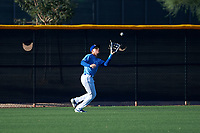 AZL Royals left fielder Darryl Collins (21) catches a fly ball during an Arizona League game against the AZL Brewers Blue at Surprise Stadium on June 18, 2019 in Surprise, Arizona. AZL Royals defeated AZL Brewers Blue 12-7. (Zachary Lucy/Four Seam Images)