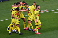 15th March 2020, Wellington, New Zealand;  The Phoenix celebrate the goal from Gary Hooper during the A-League - Wellington Phoenix versus Melbourne Victory football match at Sky Stadium in Wellington on Sunday the 15th March 2020.