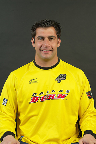 DALLAS, TX - FEBRUARY: Jeff Cassar #0 of the Dallas Burn head shot on February 17, 2004 season in Dallas, Texas. (Photo by Rick Yeatts)