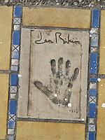 Hand print of the film star, Jane Birkin, outside the Palais des Festivals et des Congres, Cannes, France.