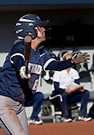 March 10, 2012:   Nevada Wolf Pack's Caylin Campbell swings against the San Diego Toreros during their NCAA softball game played as part of the The Wolf Pack Classic at Christina M. Hixson Softball Park on Saturday in Reno, Nevada.