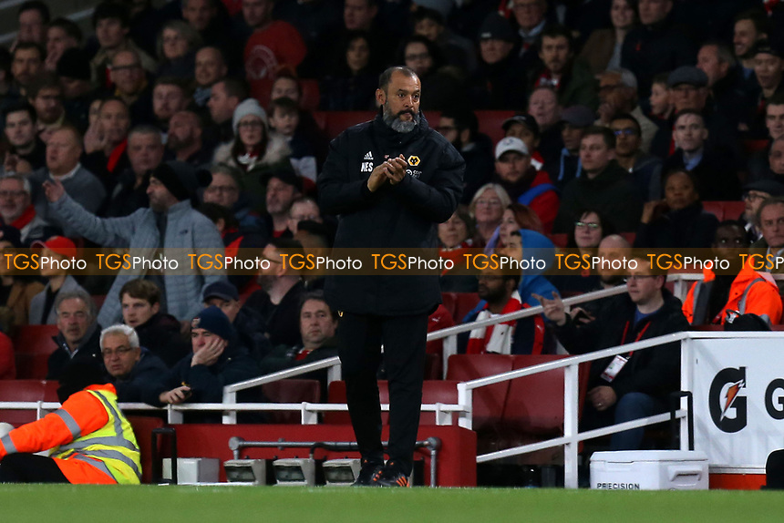 Wolverhampton Wanderers manager Nuno during Arsenal vs Wolverhampton Wanderers, Premier League Football at the Emirates Stadium on 11th November 2018
