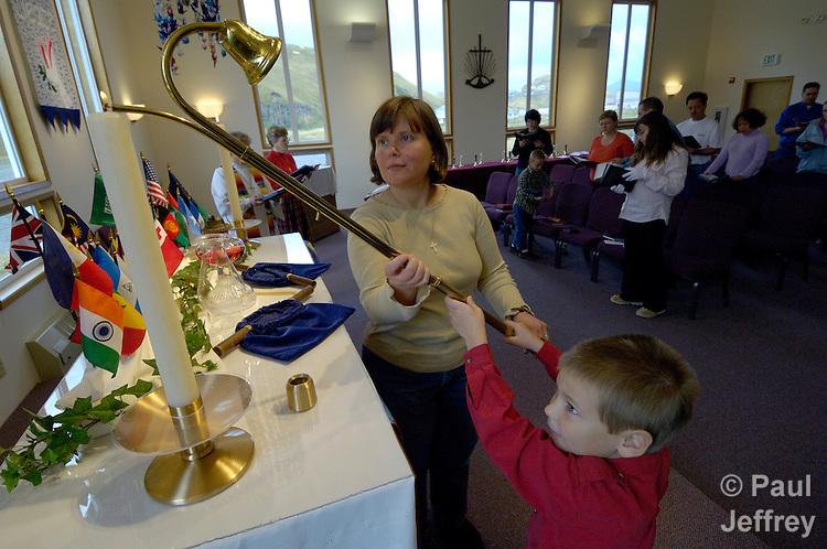Sunday worship service at the Unalaska United Methodist Church.