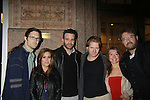 Nathaniel Marston directs & poses with the cast of the upcoming production of Hurley Burley - Stars of Daytime and Prime Time Television and Broadway bartend to benefit Stockings with Care 2011 Holiday Drive  - Celebrity Bartending Event with Silent Auction & Raffle on November 16, 2011 at the Hudson Station Bar & Grill, New York City, New York. For more information - www.stockingswithcare.org.  (Photo by Sue Coflin/Max Photos)