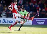 Che Adams of Sheffield Utd takes a shot on goal - English League One - Fleetwood Town vs Sheffield Utd - Highbury Stadium - Fleetwood - England - 5rd March 2016 - Picture Simon Bellis/Sportimage