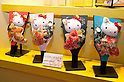 "September 5 2012, Japan - The Hello Kitty dolls exhibit at Gift Show exhibition. The 74th Tokyo International Gift Show brings together 2,400 companies including from China, South Korea, Taiwan and Hong Kong displaying the latest gifts and daily life products, in the biggest international trade show at Tokyo Big Sight. This year the theme of the exhibition is ""Proposing 2012 Future-oriented Relaxation Gifts"". (Photo by Rodrigo Reyes Marin/AFLO).."