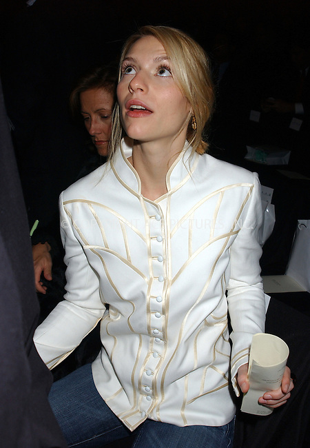 WWW.ACEPIXS.COM . . . . . ....NEW YORK, FEBRUARY 10, 2005....Claire Danes at the Zac Posen Fall 2005 show in Bryant Park.....Please byline: KRISTIN CALLAHAN - ACE PICTURES.. . . . . . ..Ace Pictures, Inc:  ..Philip Vaughan (646) 769-0430..e-mail: info@acepixs.com..web: http://www.acepixs.com