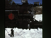 Close-up view of engineer's side of C&amp;ts #488 smokebox area.<br /> C&amp;TS  Cumbres Pass, CO