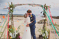 A Colourful Scottish Beach Wedding