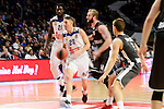 Real Madrid's Othello Hunter and Jaycee Carroll and Brose Bamberg's Vladimir Veremeenko during Turkish Airlines Euroleague between Real Madrid and Brose Bamberg at Wizink Center in Madrid, Spain. December 20, 2016. (ALTERPHOTOS/BorjaB.Hojas)