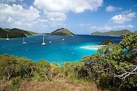 View of Leinster Bay along the Johnny Horn Trail.<br /> St John<br /> Virgin Islands National Park<br /> U.S. Virgin Islands