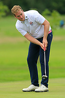 Gary Ward (Kinsale) on the 14th green during the AIG Barton Shield Munster Final 2018 at Thurles Golf Club, Thurles, Co. Tipperary on Sunday 19th August 2018.<br /> Picture:  Thos Caffrey / www.golffile.ie<br /> <br /> All photo usage must carry mandatory copyright credit (© Golffile   Thos Caffrey)