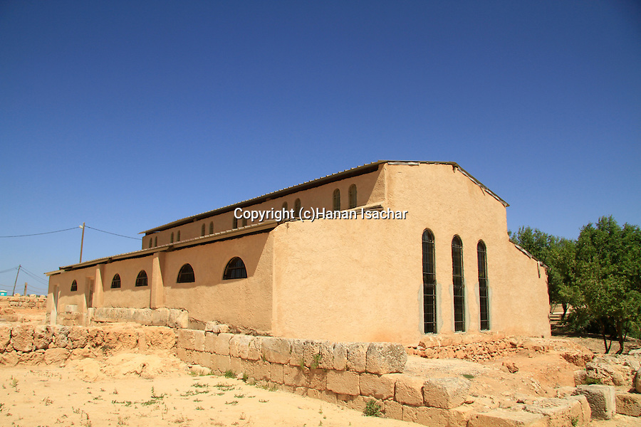 Samaria, the reconstructed Byzantine Basilica in Tel Shiloh