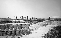 """Interior of Fort Sedgewick (""""Fort Hell"""") near Petersburg.  Capt. Andrew J. Russell. April 1865. (National Archives)<br /> Exact Date Shot Unknown<br /> NARA FILE#:  064-CV-335<br /> WAR & CONFLICT BOOK #:  161"""
