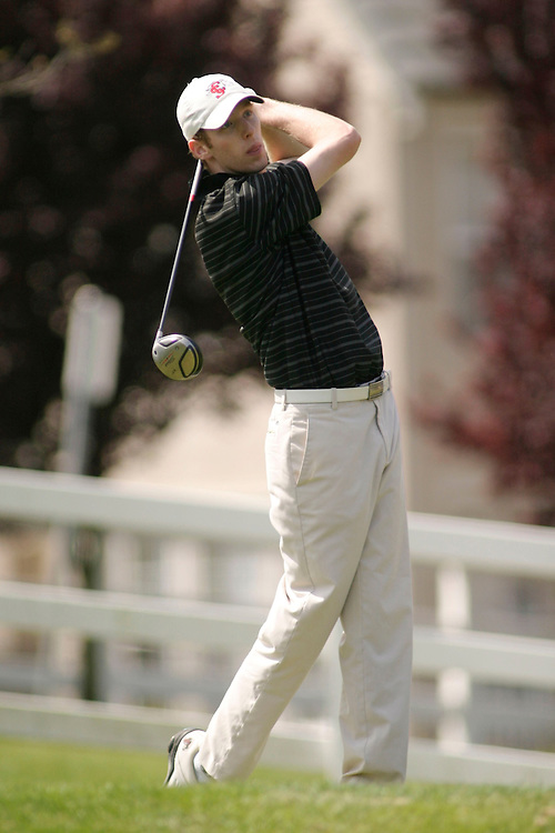 VALLEJO, CA - APRIL 13:  Jonathan Keane of the Santa Clara Broncos during the first round of the West Coast Conference Golf Championships on April 14, 2009 at Hiddenbrooke Golf Course in Vallejo, California.