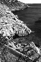 cycladic rock beach