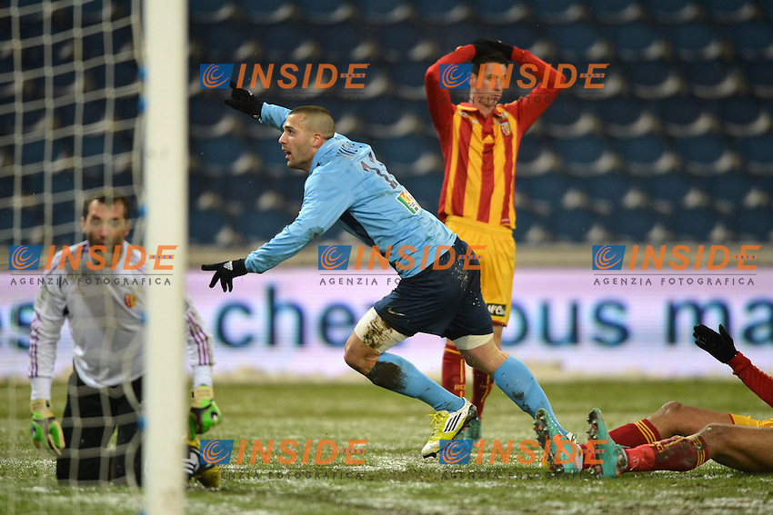 Yohann RIVIERE (hav) - Rudy RIOU (len) - Alexandre COEFF (len)) .Football Calcio 2012/2013.Ligue 1 Francia.Le Havre Vs Lens.Foto Panoramic / Insidefoto .ITALY ONLY