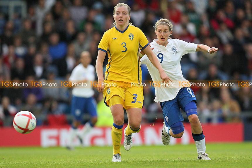 Linda Sembrant of Sweden and Ellen White of England - England Women vs Sweden Women - International Football at Oxford United FC - 17/05/11 - MANDATORY CREDIT: Gavin Ellis/TGSPHOTO - Self billing applies where appropriate - Tel: 0845 094 6026