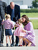 20.07.2017; Hamburg, Germany: PRINCESS CHARLOTTE THROWS A TANTRUM<br /> Princess Charlotte was looking forward to play with the gifts (colouring pads) that the childern received from Airbus.<br /> However mum Kate wanted it put away. A little tussle ensued before the items were taken to be put away safely. <br /> 2-year-old Princess Charlotte was not very pleased and after jumping up and down threw herself on to the tarmac. Kate was not very pleased and told her off which led to tears.<br /> Picture show: Princess Charlotte and Prince George receiving colouring kits from Airbus.<br /> Mandatory Photo Credit: &copy;Francis Dias/NEWSPIX INTERNATIONAL<br /> <br /> IMMEDIATE CONFIRMATION OF USAGE REQUIRED:<br /> Newspix International, 31 Chinnery Hill, Bishop's Stortford, ENGLAND CM23 3PS<br /> Tel:+441279 324672  ; Fax: +441279656877<br /> Mobile:  07775681153<br /> e-mail: info@newspixinternational.co.uk<br /> Usage Implies Acceptance of Our Terms &amp; Conditions<br /> Please refer to usage terms. All Fees Payable To Newspix International
