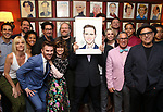 """Santino Fontana with the """"Tootsie"""" Company during the Santino Fontana portrait unveiling at Sardi's on May 21, 2019 in New York City."""