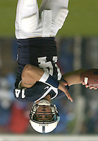 02 September 2006:  Penn State QB Anthony Morelli (14).&amp;#xD;The Penn State Nittany Lions defeated the Akron Zips 34-16 September 2, 2006 at Beaver Stadium in State College, PA.&amp;#xD;<br />