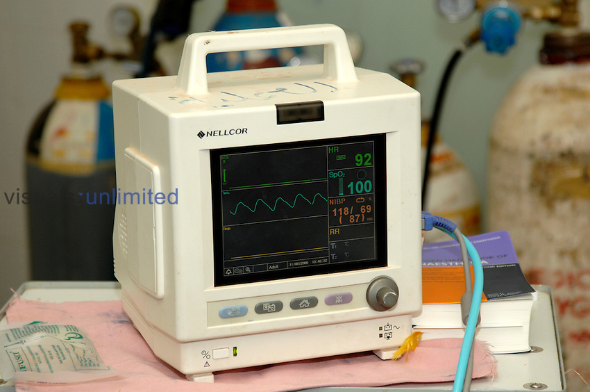 Patient heart monitor Royalty Free